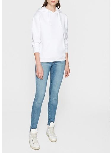 Mavi Sweatshirt Beyaz